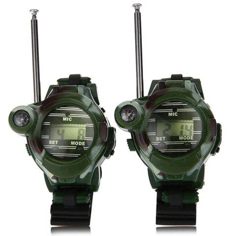 1228 - 7 Smart Watch Interphone Parent-child Toy Camouflage Military Style 2PCS - ARMY GREEN