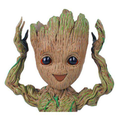 Creative Tree Man Flower Pot Doll Model Desk Ornament Gift Toy - APRICOT CHEER