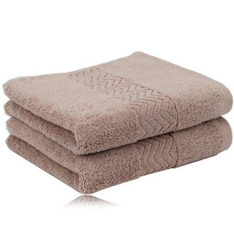 Environmental Friendly Unfading Cotton Bath Towel - LIGHT BROWN