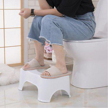 Ergonomic Bathroom Foot Pad Toilet Ottoman - WHITE