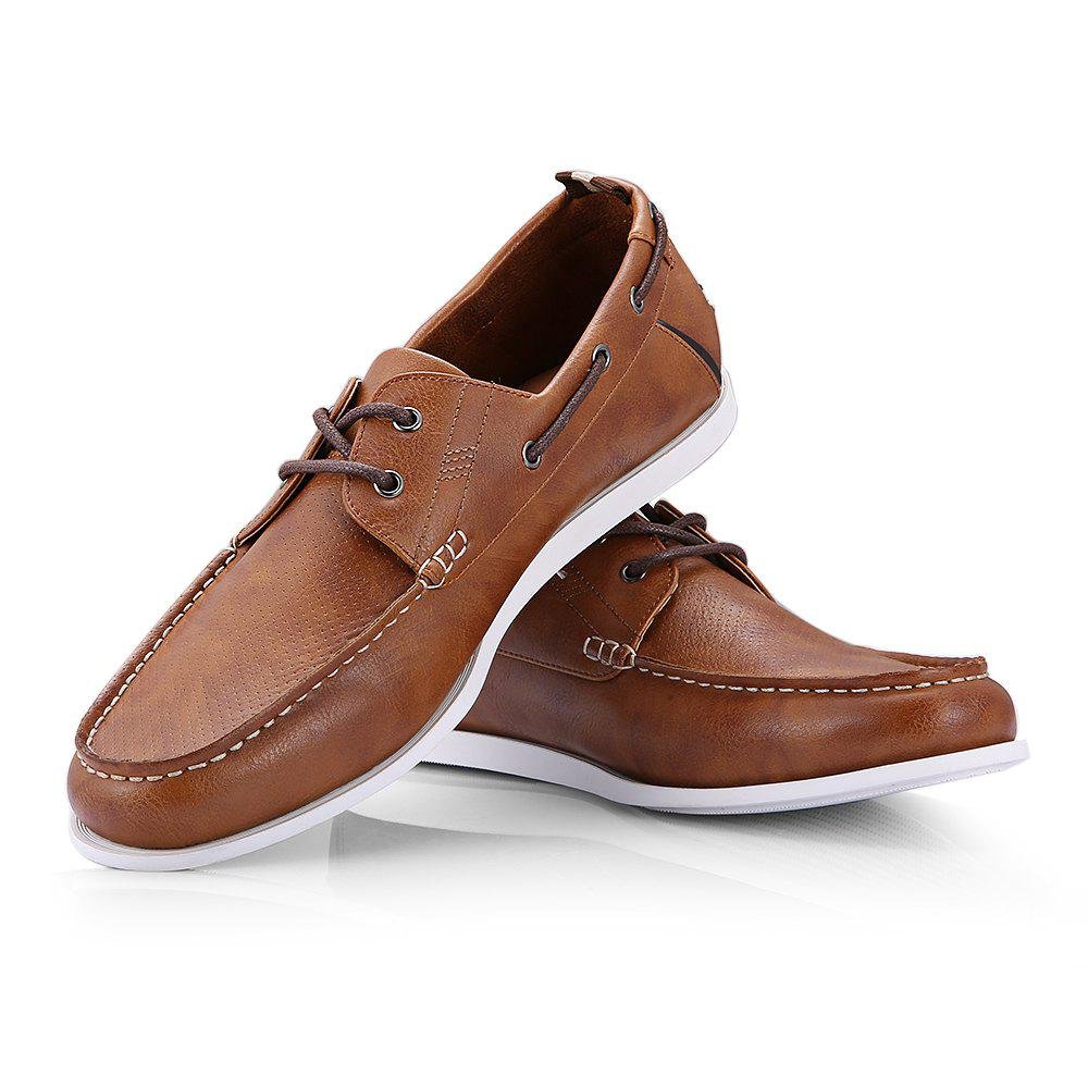 Men's Fashion Casual Flat Shoe - BROWN 10