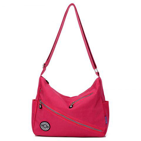 Jinqiaoer Women Water-proof Canvas Crossbody Bag - ROSE RED
