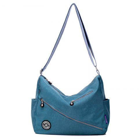 Jinqiaoer Women Water-proof Canvas Crossbody Bag - PEACOCK BLUE