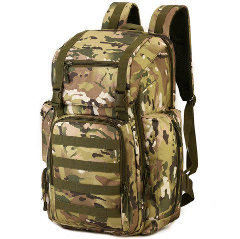 Outdoor Large Capacity Multi-function Nylon Backpack for Men - WOODLAND CAMOUFLAGE
