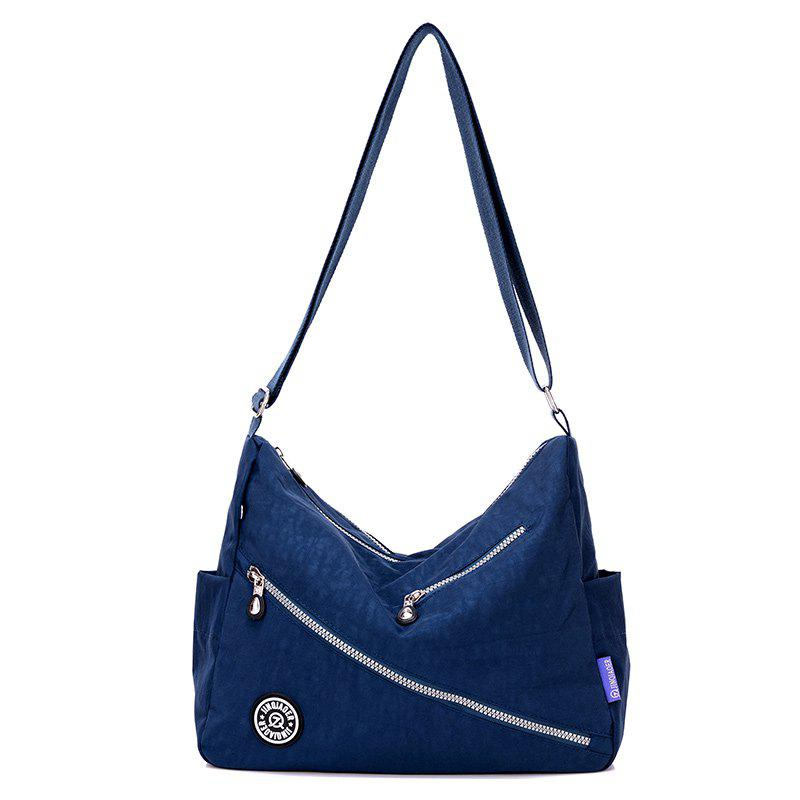 Jinqiaoer Women Water-proof Canvas Crossbody Bag - DEEP BLUE