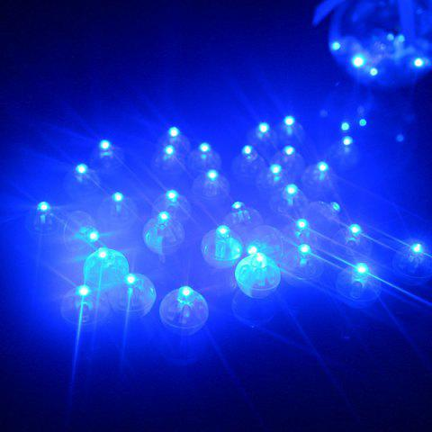 Round Ball Light LED Bulb Switch Balloon Colorful Flashing Decoration 20pcs - BLUE