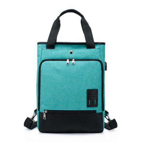 fa37be9849db HUWAIJIANFENG Water-proof Outdoor Backpack with USB Charging Interface -  MEDIUM TURQUOISE
