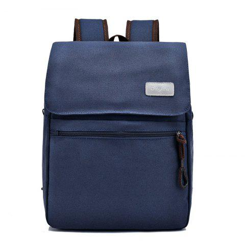 HUWAIJIANFENG Water-proof Canvas Outdoor Backpack with USB Charging  Interface - DARK SLATE BLUE 4175e8900ec18