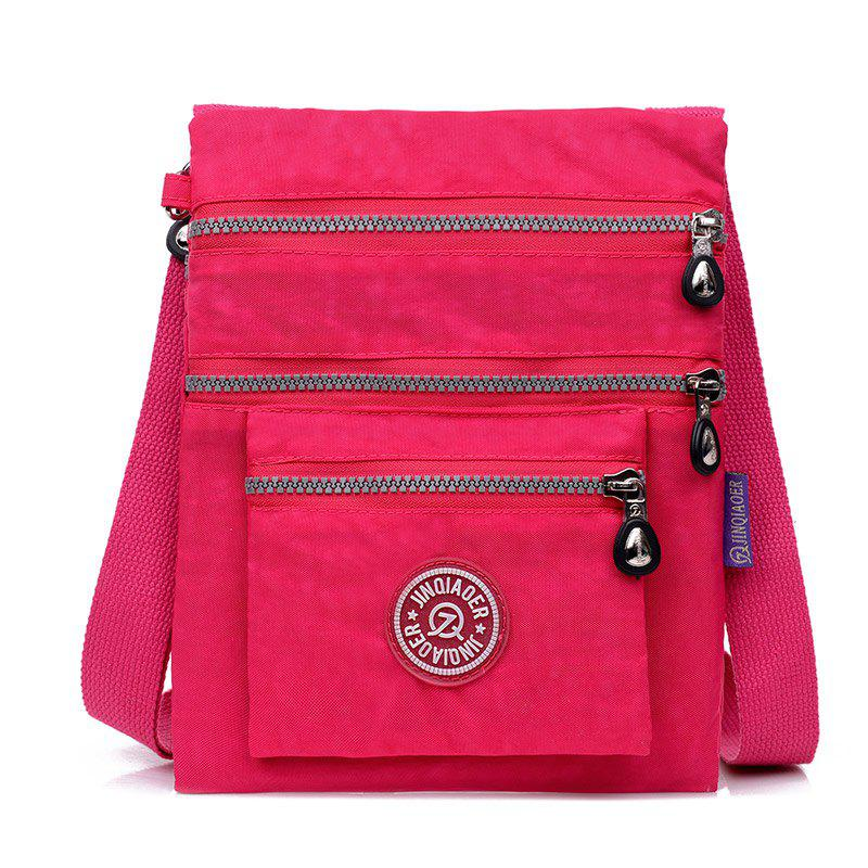 Jinqiaoer Water-proof Nylon Crossbody Bag for Women - ROSE RED
