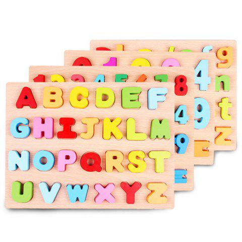 Early Education Cognitive Puzzle for Children - multicolor A A TYPE UPPERCASE LETTER