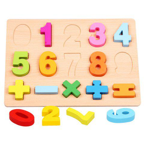 Early Education Cognitive Puzzle for Children - multicolor A C TYPE 0 - 9 NUMBERS