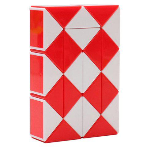 Trendy Educational Rubik's Twist 24 Segments Magic Ruler - FIRE ENGINE RED