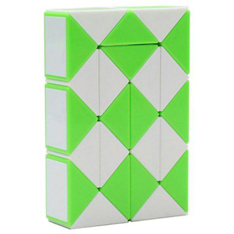 Trendy Educational Rubik's Twist 24 Segments Magic Ruler - ALIEN GREEN