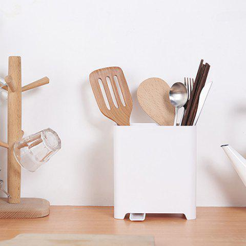 Creative Storage Rack for Knife Chopsticks Spoon - WHITE