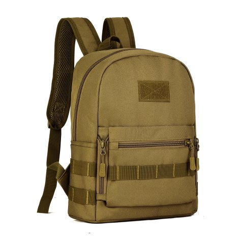 Protector Plus Outdoor Nylon Backpack for Men - CAMEL BROWN