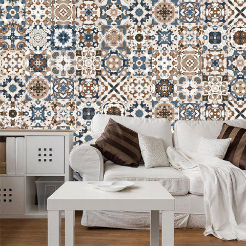 Creative Moroccan Style Wall Sticker for Kitchen Bedroom Living Room 5pcs - multicolor A