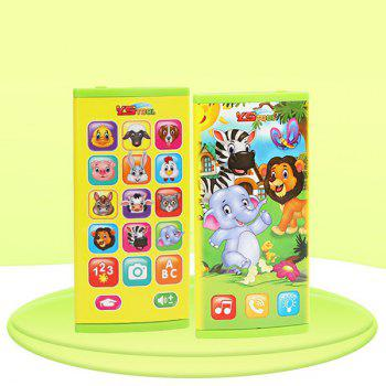 2604A ABS Curved Screen Multifunctional Mobile Phone Early Education Puzzle Toy with Light Music - YELLOW