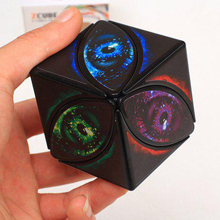 ZCUBE Creative Maple Leaf Eye Magic Cube Educational Toys - multicolor A