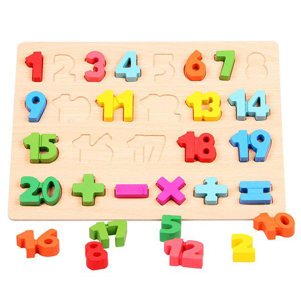 Early Education Cognitive Puzzle for Children - multicolor A D TYPE 1 - 20 NUMBERS