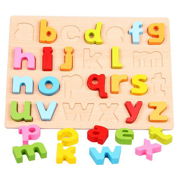Early Education Cognitive Puzzle for Children - multicolor A B TYPE LOWERCASE LETTERS