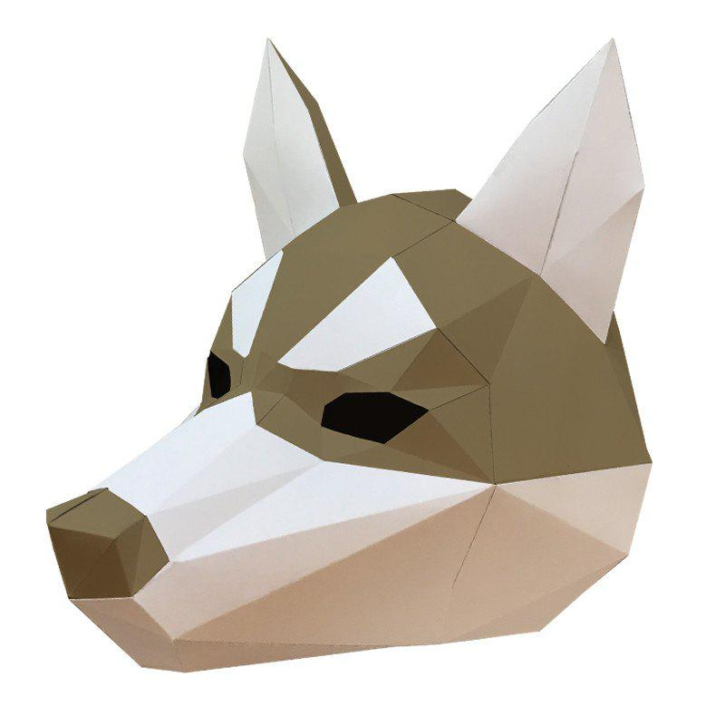 Creative DIY Paper Material Head Mask for Halloween / Parties - SAND