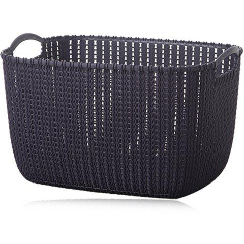 PP Woven Type Storage Basket - GRAY