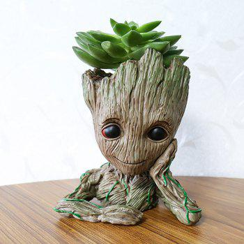 Creative Tree Man Flower Pot Doll Model Desk Ornament Gift Toy