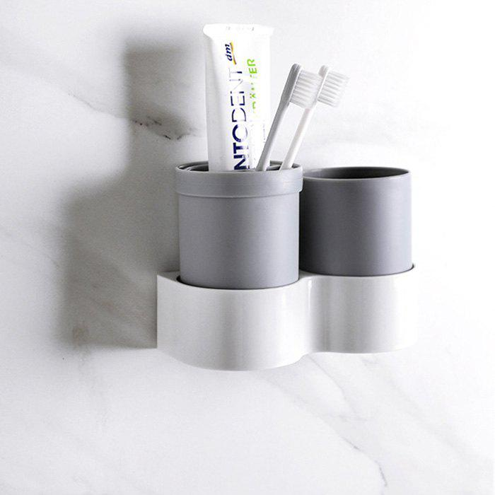 Creative Wall Mounted Toothbrush Holder - GRAY
