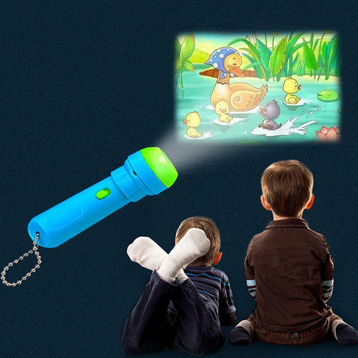 Kids Projector Toy Educational Story Flashlight - MACAW BLUE GREEN