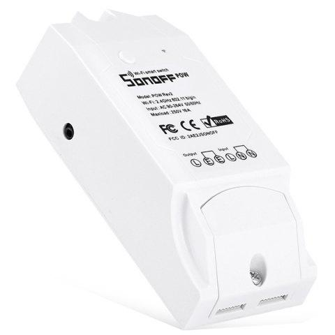 SONOFF POW Rev2 16A WiFi Smart Light Switch Battery Monitoring - WHITE