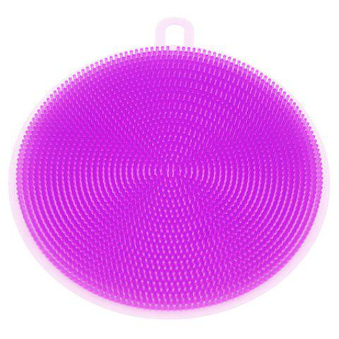 Multi-functional Silicone Round Kitchen Cleaning Brush - HELIOTROPE PURPLE
