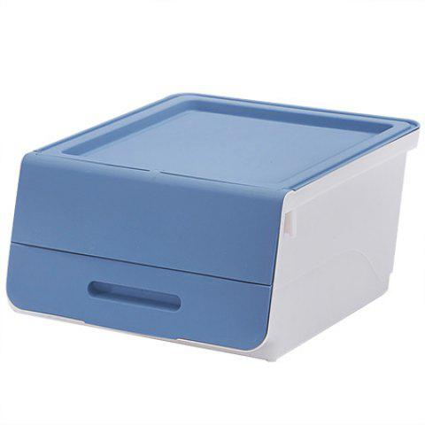 Multi-function PP Storage Box for Clothes Toys - LIGHT STEEL BLUE