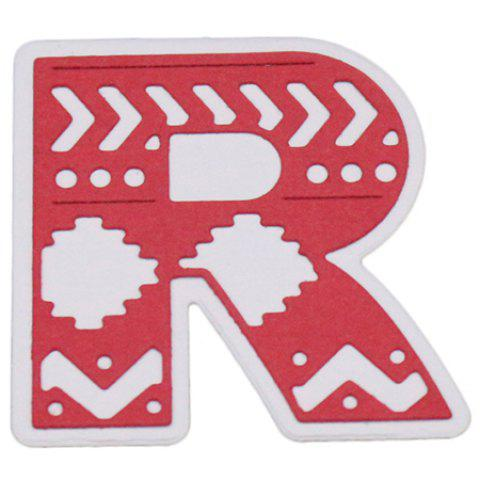 Delicate DIY Capital Letter R Style Cutting Die - SILVER