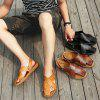 Stylish Summer Anti-slip Dual-use Leather Sandals for Men - LIGHT BROWN 42