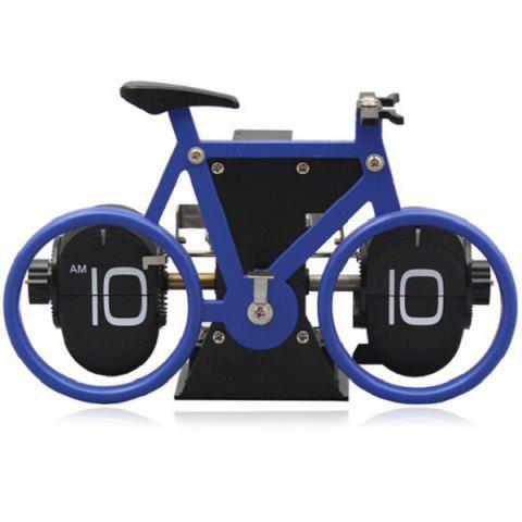 Fashionable Bicycle Shape Automatic Flip Digital Alarm Clock Vintage Horologe - DENIM DARK BLUE
