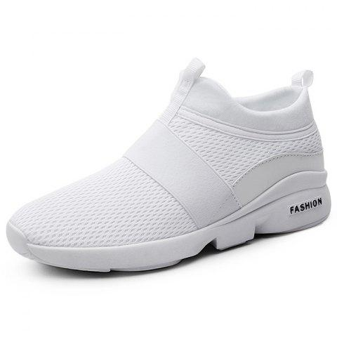 Outdoor Breathable High-top Casual Sports Shoes for Men - WHITE 45