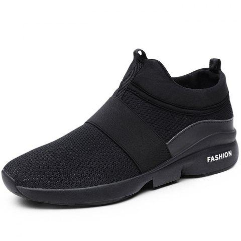 Outdoor Breathable High-top Casual Sports Shoes for Men - BLACK 43