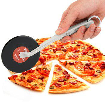 Vinyl Record Style Pizza Cutter Kitchen Utility Tool - RED
