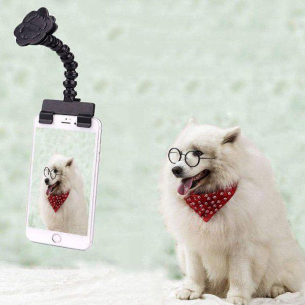 Pet Selfie Stick Photo Artifact Cat Dog Look Camera Funny Tool - BLACK