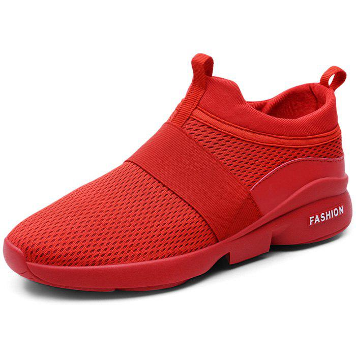Outdoor Breathable High-top Casual Sports Shoes for Men - CHESTNUT RED 39