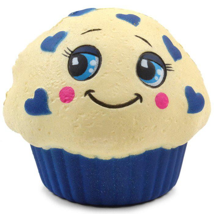 M008 PU Imitation Expression Cake Squishy Toy Gift for Pressure Reducing - ANTIQUE WHITE 1PC