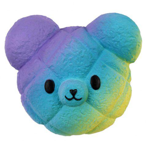 M025 Jumbo Squishy Cartoon Bear Head PU Slow Rising Toy Relief Pressure Gift - GLACIAL BLUE ICE
