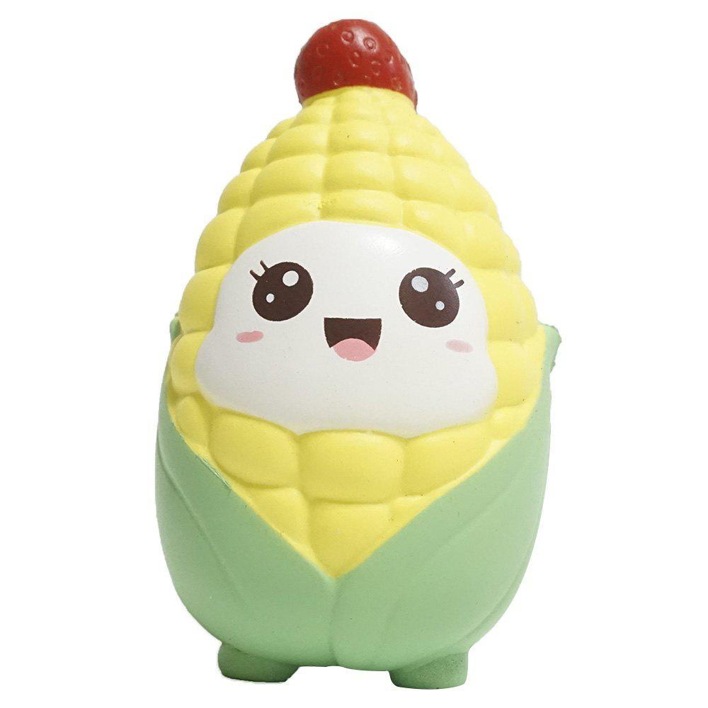 Jumbo Squishy Slow Rebound Toy Corn for Relieving Stress - PARCHMENT