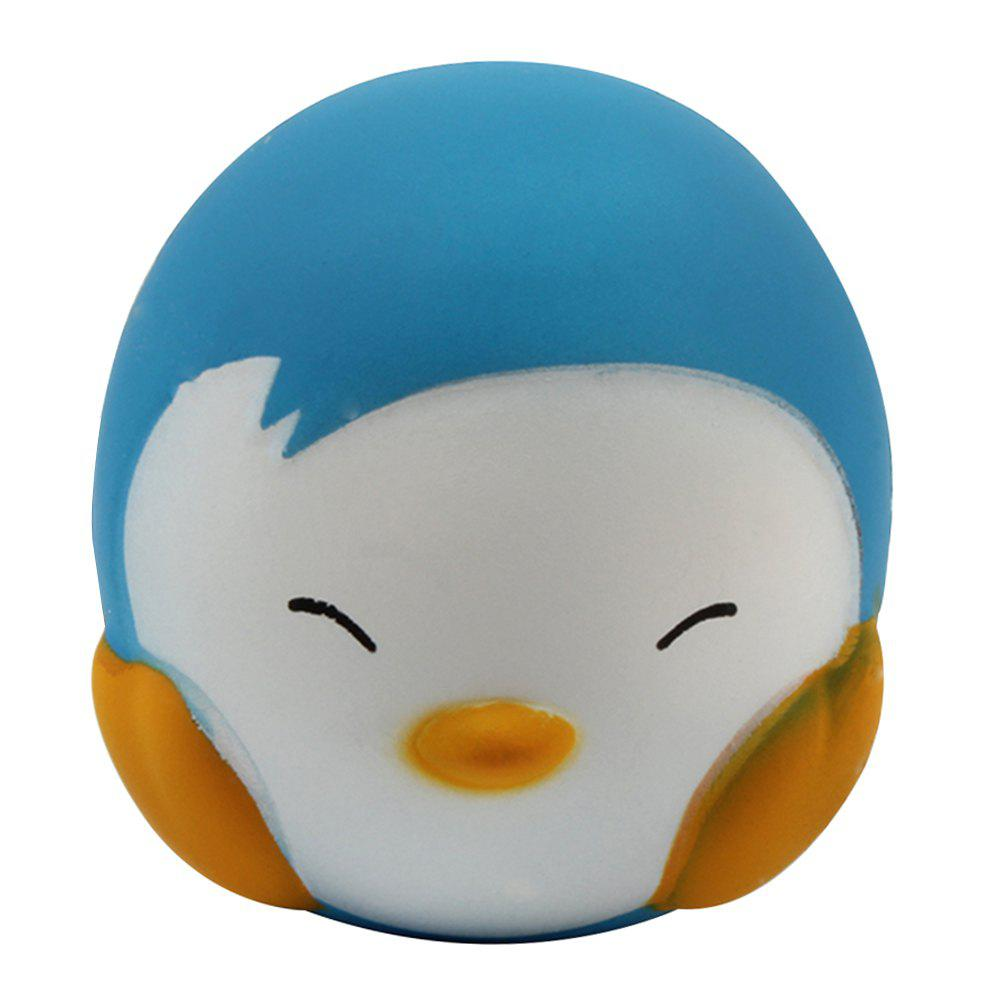 M030 Jumbo Squishy Cartoon Penguin PU Slow Rising Toy Relief Pressure Gift - DEEP SKY BLUE