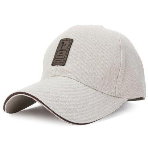 Sunshade Ventilative Quick Drying Pure Cotton Baseball Golf Cap - WARM WHITE