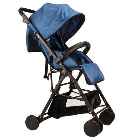 GIFT Lightweight High Landscape Foldable Aluminum Alloy Stroller - BLUE IVY