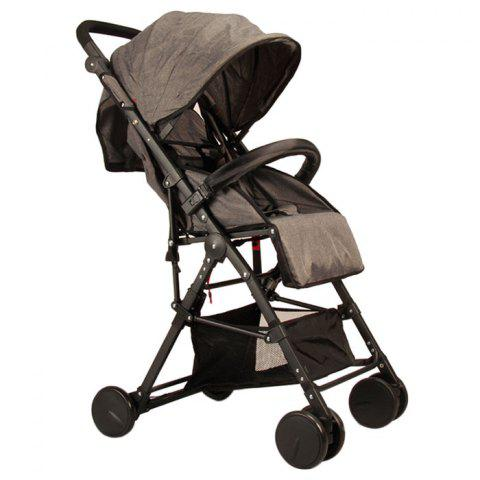 GIFT Lightweight High Landscape Foldable Aluminum Alloy Stroller - CARBON GRAY