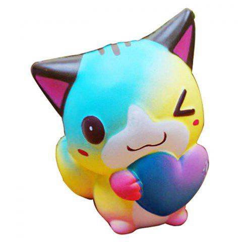 Jumbo Squishy Lovely Cat PU Slow Rising Toy Relief Pressure Gift - multicolor A