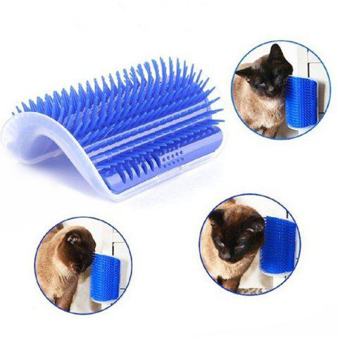 Pet Cat Walled Hair Suppression Nettoyage Massage Comb - Bleu