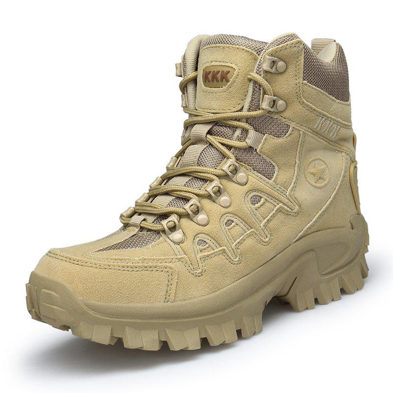 High-top Men Stylish Comfort Wear-resistant Antiskid Boots - TAN 42
